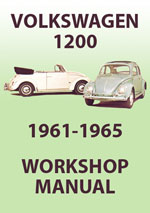 Volkswagen 1200 Type 1 Beetle, 1961-1965 Workshop Repair Manualo and Spare Parts Catalogue