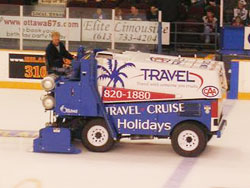 Zamboni Ice machines are powered by Volkswagen engines running on LPG