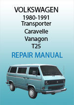 Volkswagen Type 25 Transporter Workshop Repair Manual